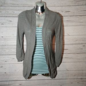 Maurices open front gray cardigan size S